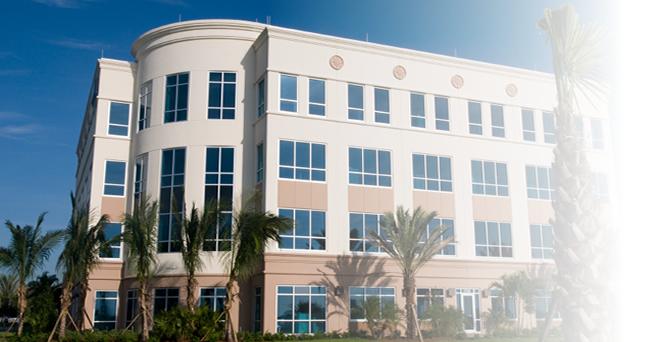 Motel office building retail strip center self storage building light